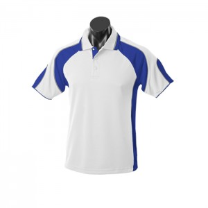 Aussie-Pacific-Murray-Mens-Polo-White-Royal-Front