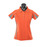Aussie-Pacific-Eureka-Lady-Polo-Orange-Charcoal