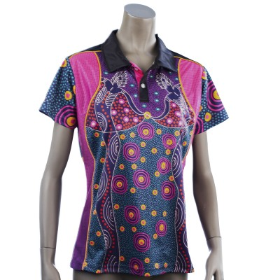 45161-Indigenous-Lady Spirit-Polo-Front
