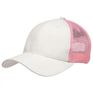 Trucker-cap-8003-Chalk-White-Light-Pink