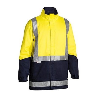 Bisley-3-in-1-Drill-Hi-Vis-Jacket-Yellow-Navy