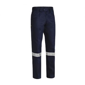 Bisley-mens-taped-drill-work-pant-navy