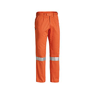 Bisley-mens-taped-drill-work-pant-orange