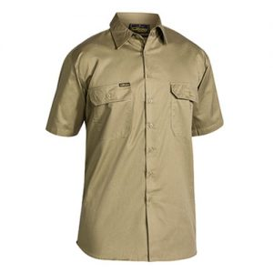 Bisley-Short-Sleeve-Work-Shirt-BS1893-Khaki