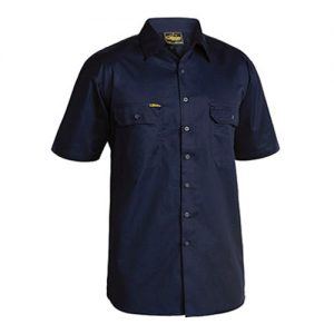 Bisley-Short-Sleeve-Work-Shirt-BS1893-Navy