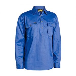 Bisley-drill-work-shirt-closed-front-royal