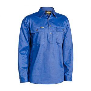 Bisley-drill-work-shirt-closed-front-royal