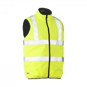 Bisley-Reversible-taped-puffer-vest-Yellow-Navy