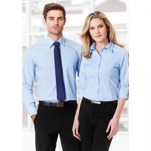 Mens-Corporate-Shirt-Chevron-Style-Long-Sleeve-Models