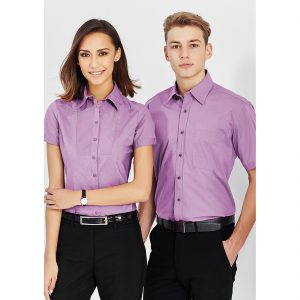 Ladies-corporate-shirt-Chevron-style-model-2