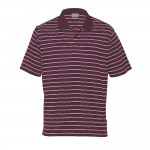Fairway-Mens-striped-gear-for-life-polo-Maroon-White