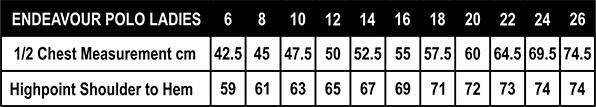 Endeavour-Lady-Size-Chart