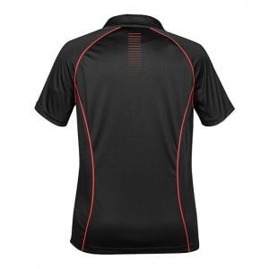 Stormtech-Ladies-Matrix-Performance-Polo-Black-True-Red-Back