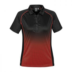Stormtech-Ladies-Matrix-Performance-Polo-Black-True-Red-Front