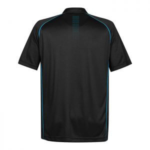 Stormtech-Mens-Matrix-Performance-Polo-Black-Electric-Blue-Back