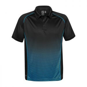 Stormtech-Mens-Matrix-Performance-Polo-Black-Electric-Blue-Front