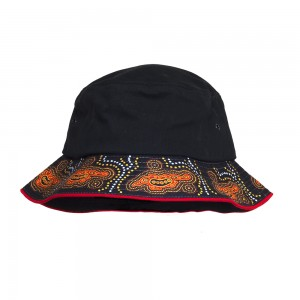 Indigenous-Bucket-Hat-Goanna-Design-Front
