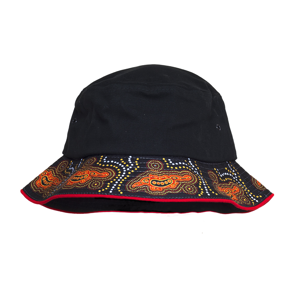 Indigenous Bucket Hat - Goanna Design - Southern Cross Brands 53a71d93e71
