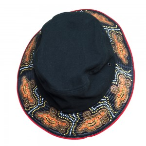 Indigenous-Bucket-Hat-Goanna-Design-Top