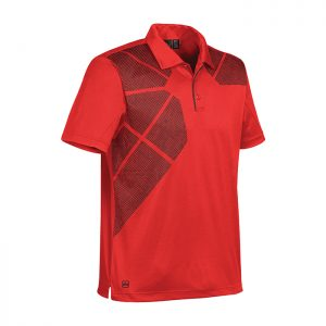 Stormtech-Mens-Prism-Performance-Polo-True-Red-Black-Left-Side
