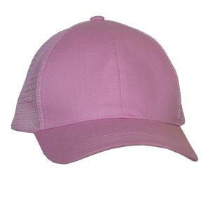 Ponytail-trucker-cap-Pink-Front-L