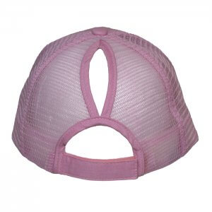 Ponytail-trucker-cap-Pink-Back