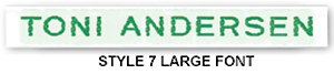 Woven-Name-Tags-Style-7-Green-Text