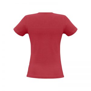 Ladies-Vibe-Scoop-Neck-Tee-Shirt-Red-Back