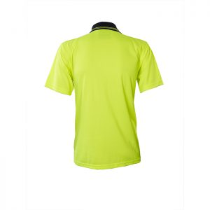 Visitec-Original-Microfibre-Hi-Vis-Polo-Short-Sleeve-Yellow-Navy-Back