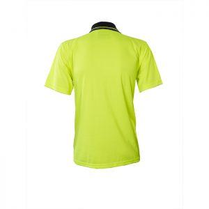 Visitec-Original-Microfibre-Hi-Vis-Polo-Short-Sleeve-Yellow-Navy-Back