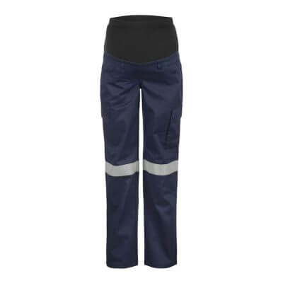 Workcraft-Ladies-maternity-taped-Cargo-Work-Pant-Navy-Front